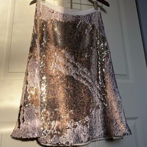Banana Republic Two Way Sequin Skirt